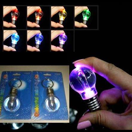 mini ampoule porte cle 7 couleurs
