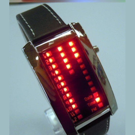 montre metal 29 leds GL1006 pic4
