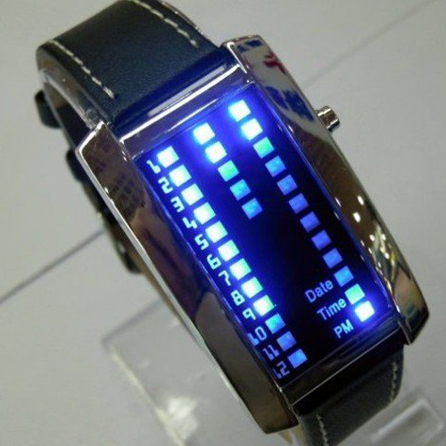 montre metal 29 leds GL1006