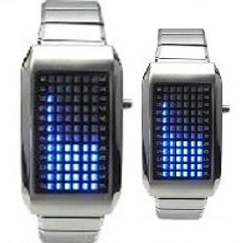 montre metal 72 leds GL1001 pic2