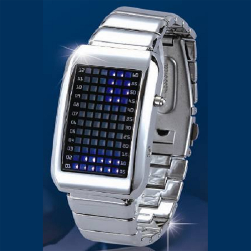 montre metal 72 leds GL1001