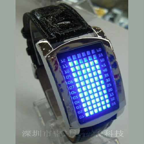 montre metal 72 leds GL1060 pic2