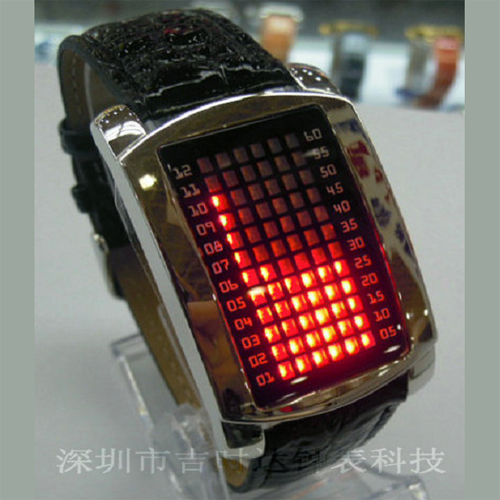 montre metal 72 leds GL1060 pic3