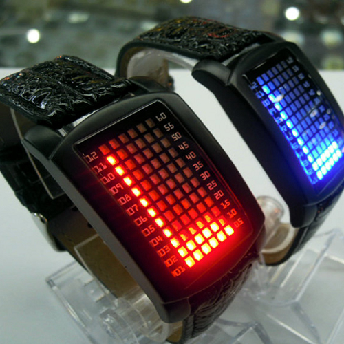 montre metal 72 leds GL1060