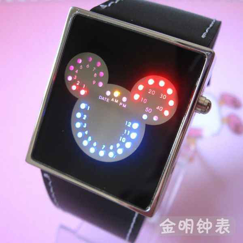 montre metal leds fantaisie GL1055 pic2