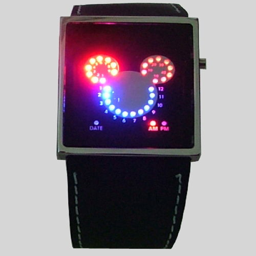 montre metal leds fantaisie GL1055