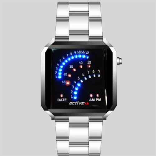 montre metal leds fantaisie GL1059
