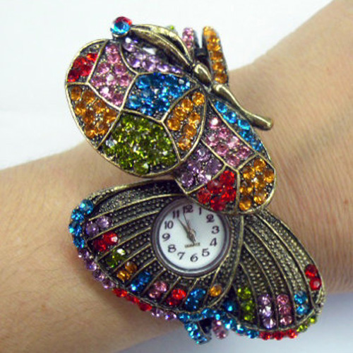 montre strass papillon WS1146