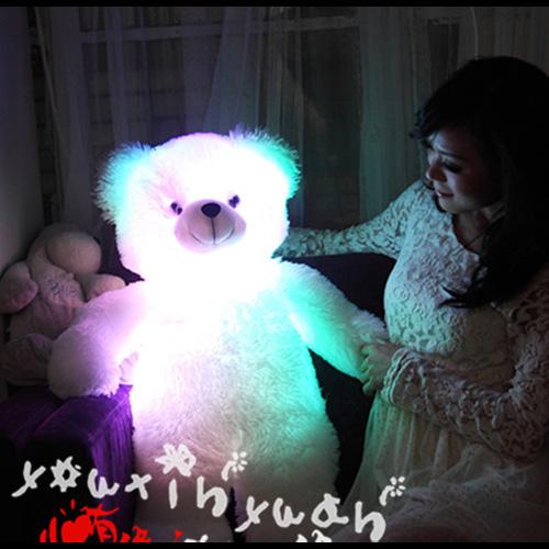 ours en peluche lumineux 80cm pic2