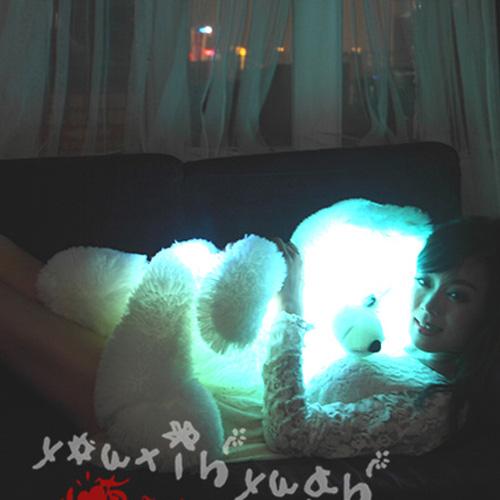 ours en peluche lumineux 80cm pic3