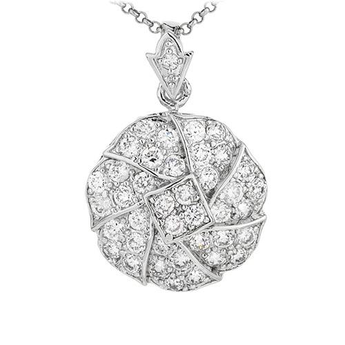 pendentif argent zirconium 8300923