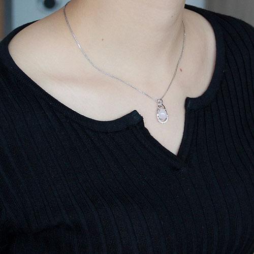 pendentif femme argent cristal 8300297 pic4