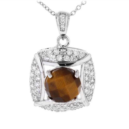 pendentif femme argent diamant 8300358