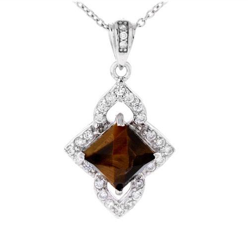 pendentif femme argent diamant 8300359