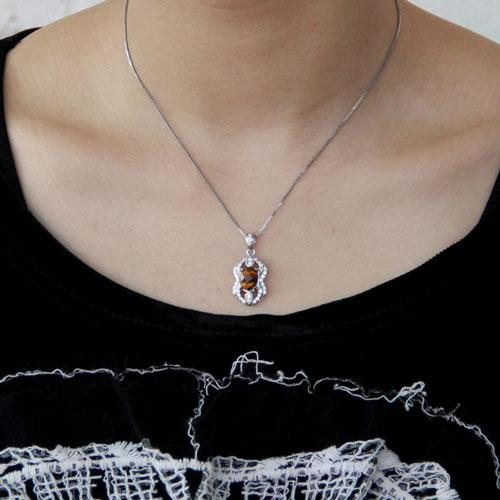 pendentif femme argent diamant 8300360 pic4