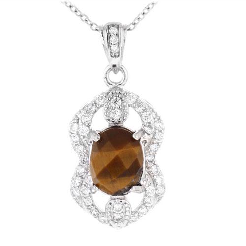 pendentif femme argent diamant 8300360