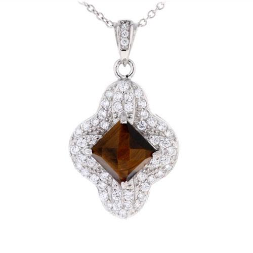 pendentif femme argent diamant 8300361