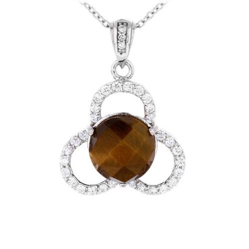 pendentif femme argent diamant 8300363
