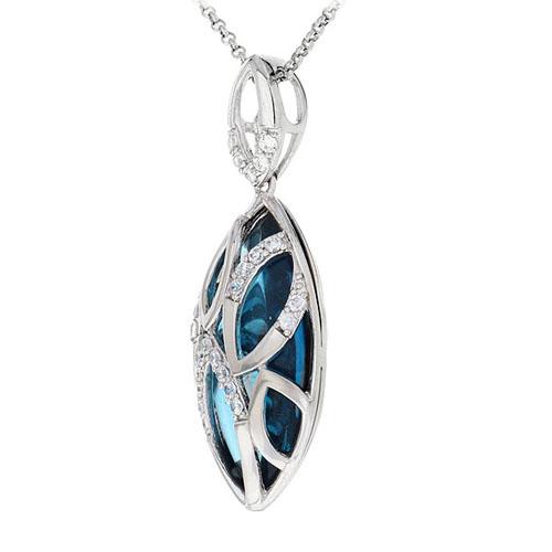 pendentif femme argent diamant 8300434 pic2