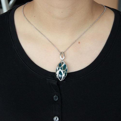 pendentif femme argent diamant 8300434 pic4