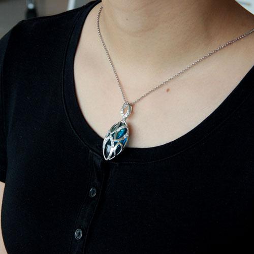 pendentif femme argent diamant 8300434 pic5