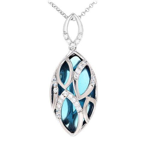 pendentif femme argent diamant 8300434