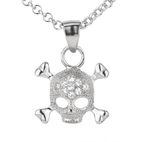 pendentif femme argent zirconium 8300028