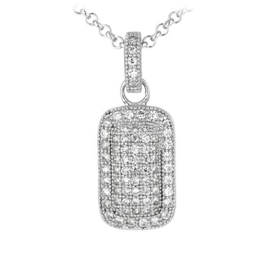 pendentif femme argent zirconium 8300033