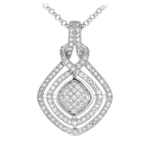 pendentif femme argent zirconium 8300034