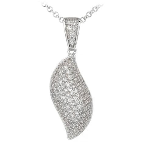 pendentif femme argent zirconium 8300036