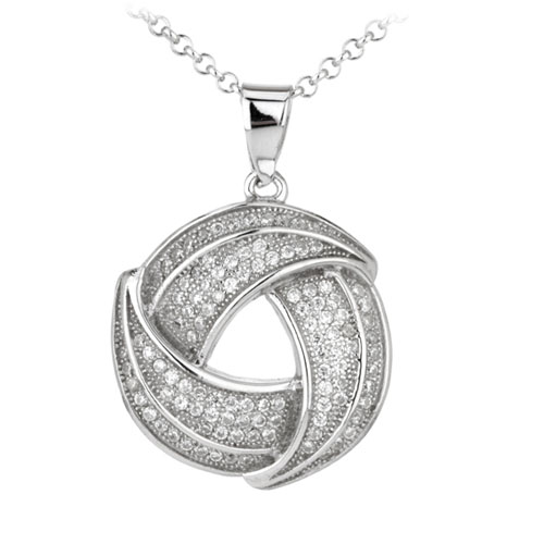 pendentif femme argent zirconium 8300037