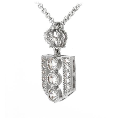 pendentif femme argent zirconium 8300039 pic2