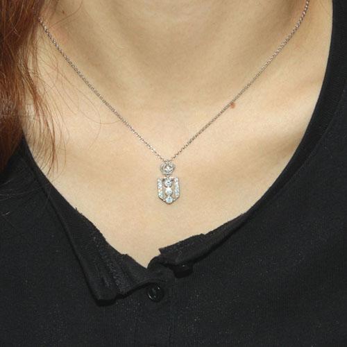 pendentif femme argent zirconium 8300039 pic4