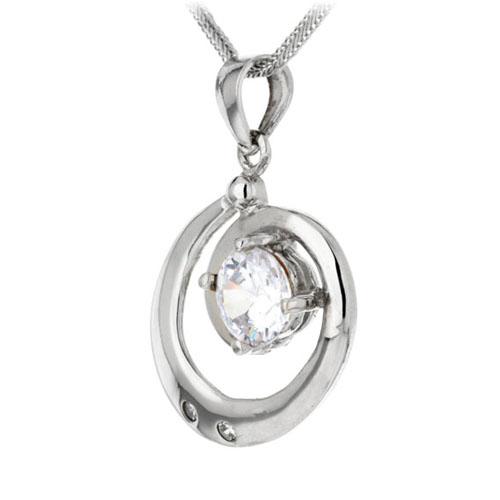 pendentif femme argent zirconium 8300067 pic2