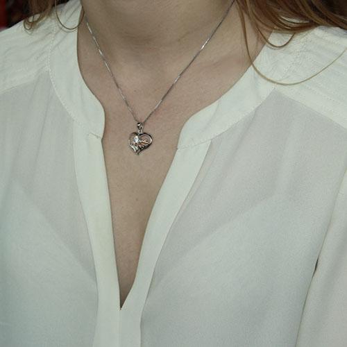 pendentif femme argent zirconium 8300074 pic4