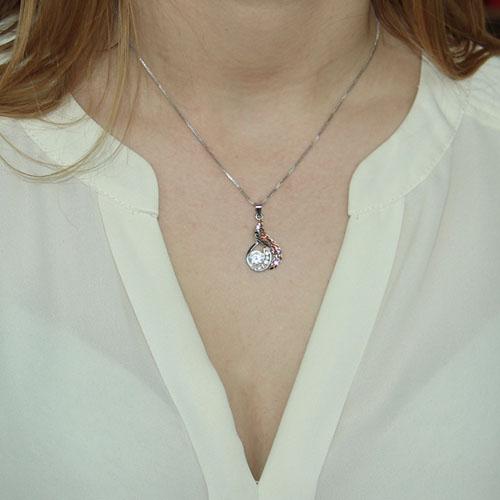 pendentif femme argent zirconium 8300079 pic4