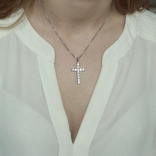 pendentif femme argent zirconium 8300097 pic4