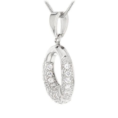 pendentif femme argent zirconium 8300102 pic2