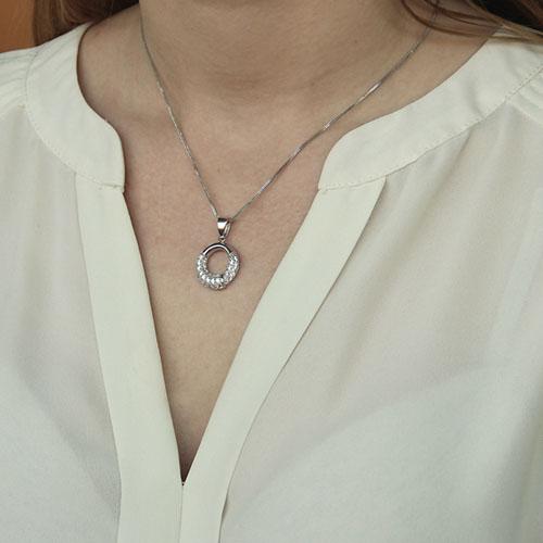 pendentif femme argent zirconium 8300102 pic4