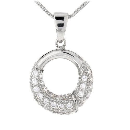 pendentif femme argent zirconium 8300102