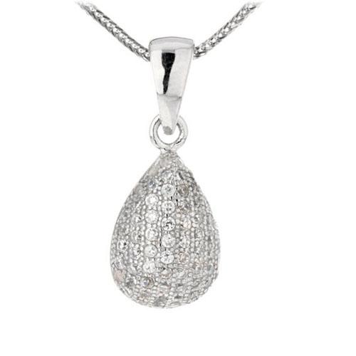 pendentif femme argent zirconium 8300103