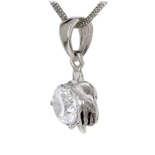 pendentif femme argent zirconium 8300107 pic2