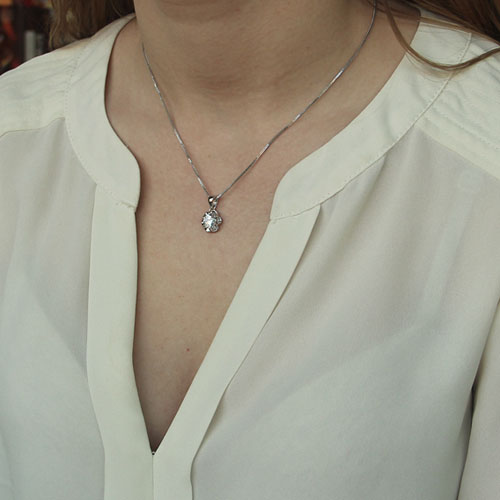 pendentif femme argent zirconium 8300107 pic4