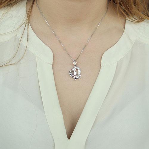 pendentif femme argent zirconium 8300125 pic4