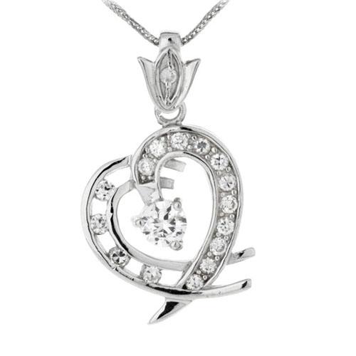 pendentif femme argent zirconium 8300125