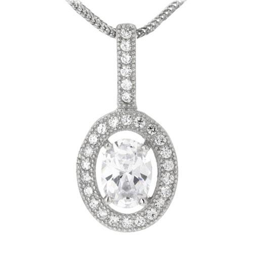 pendentif femme argent zirconium 8300126