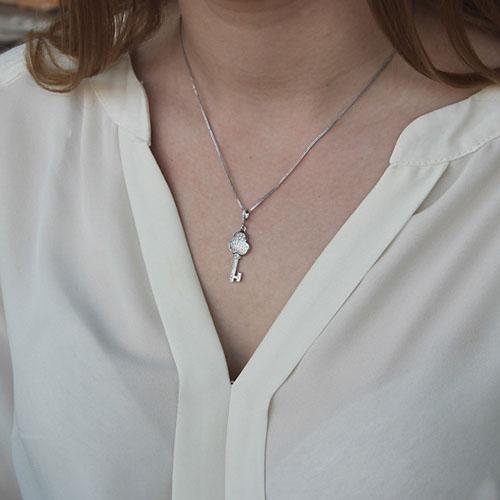 pendentif femme argent zirconium 8300129 pic4