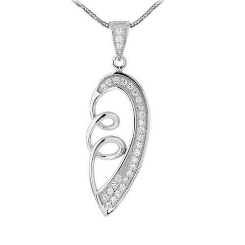 pendentif femme argent zirconium 8300131