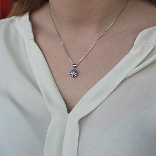 pendentif femme argent zirconium 8300132 pic4