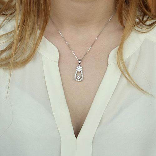 pendentif femme argent zirconium 8300135 pic4